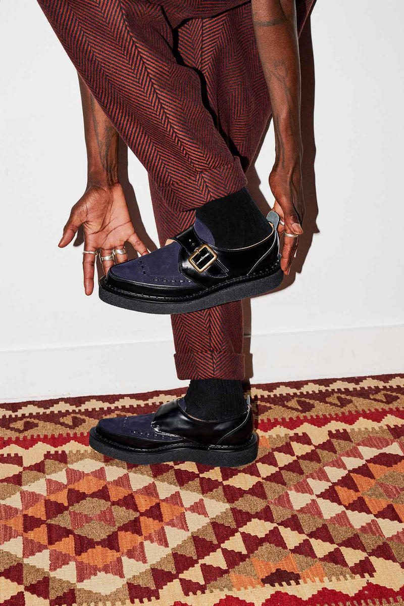 Nicholas Daley x George Cox 2018 Collaboration Collab Footwear Sneakers Boots Kicks Shoes Trainers Footwear Cop Purchase Buy Monk Strap Creeper Dover Street Market London Kink Nahoya