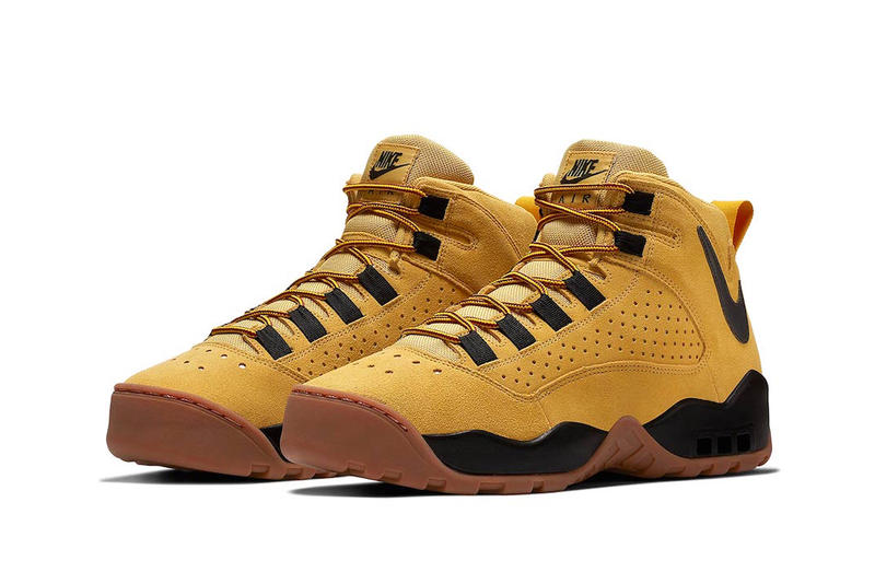 Nike Air Darwin Wheat release info dennis rodman sneakers basketball retro