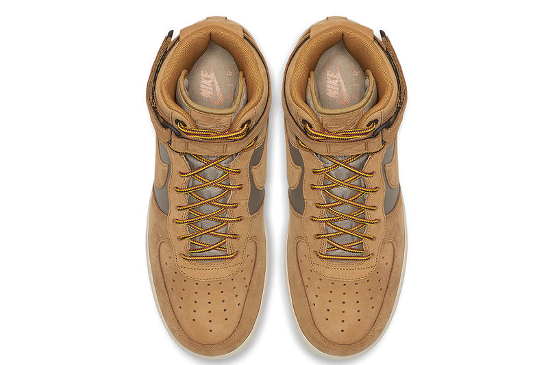 Nike Air Force 1 High Wheat fall 2018 release sneakers winter