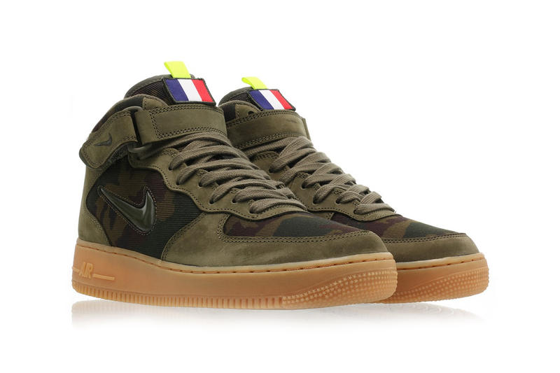 Nike Air Force 1 Jewel French Flag Release Date velcro camo red white blue swoosh buy release date drop red info green mid