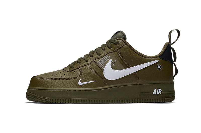 new styles 4a383 aae52 Nike Air Force 1 Low Utility Olive Canvas release info sneakers green  leather sneakers