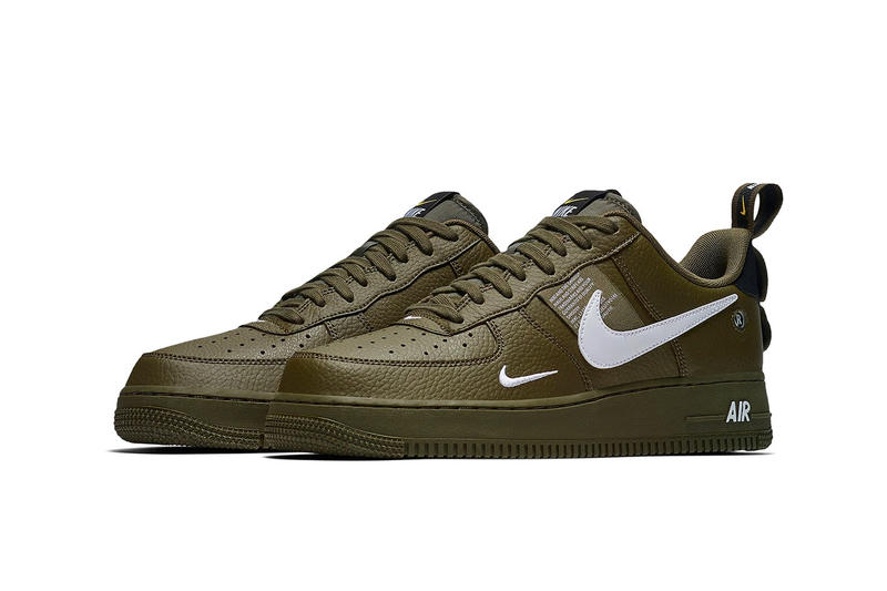 new styles 7d0ec 0e708 Nike Air Force 1 Low Utility Olive Canvas release info sneakers green  leather sneakers