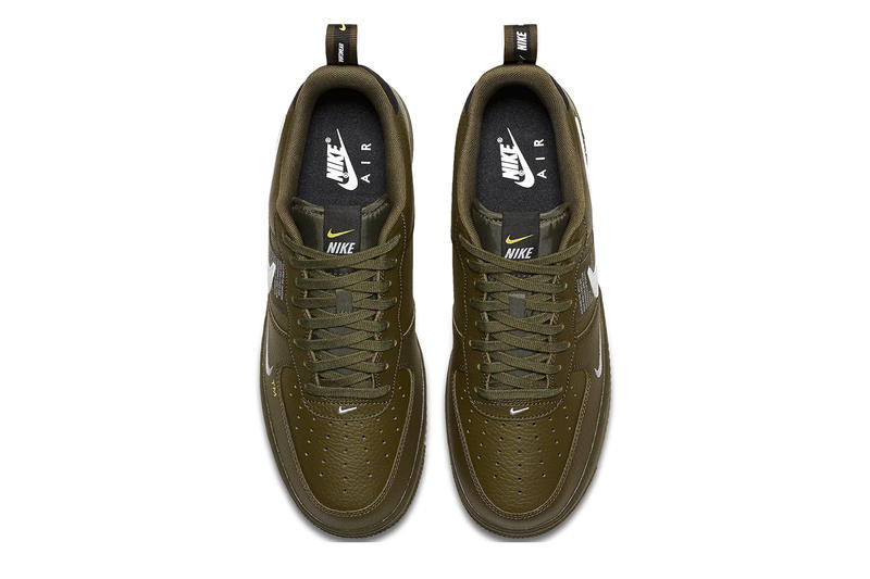 Nike Air Force 1 Low Utility Olive Canvas release info sneakers green leather sneakers