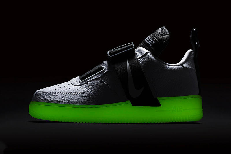 9a695abe99b2ef Nike Air Force 1 Utility QS Glow-in-the-Dark sole sneaker colorway