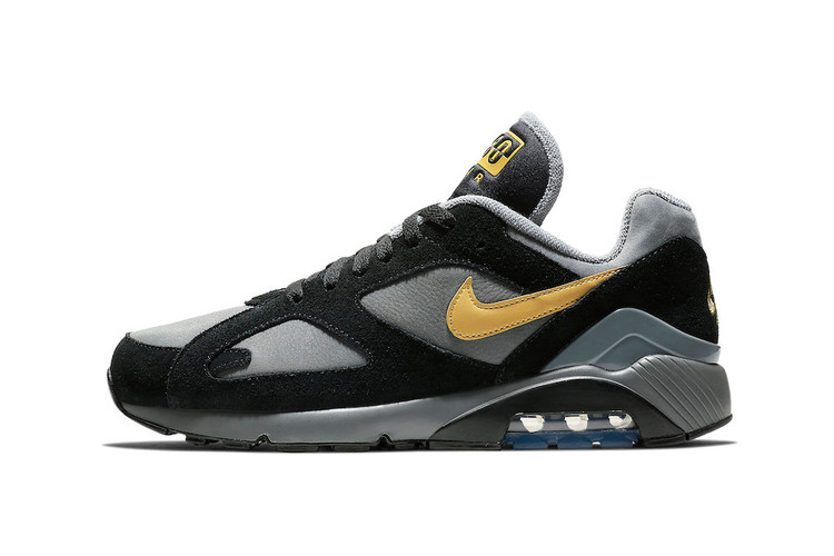 """Nike s Air Max 180 Takes on a """"Grey Black Wheat Gold"""" Makeover 666b0690b1"""