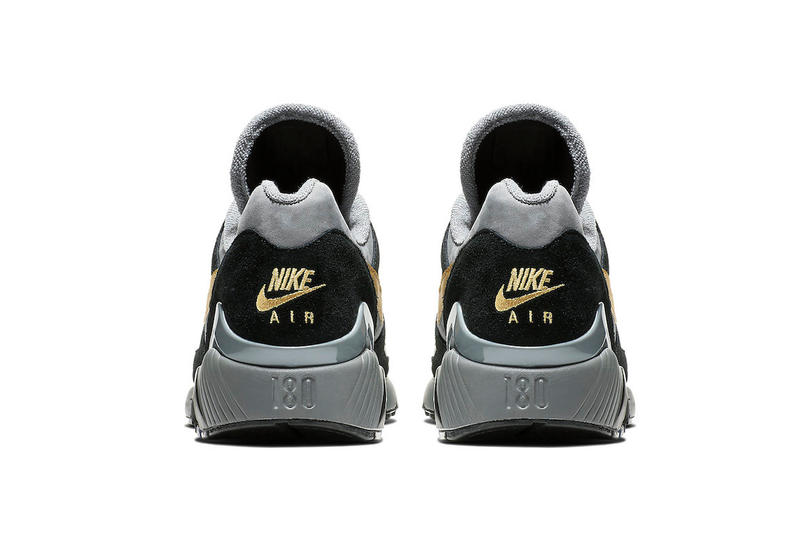 710247aa97 Nike Air Max 180 Grey Black Wheat Gold fall 2018 release sneakers leather  suede