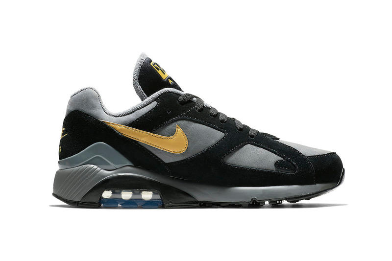 huge selection of 3b50a 36c62 Nike Air Max 180 Grey Black Wheat Gold fall 2018 release sneakers leather  suede
