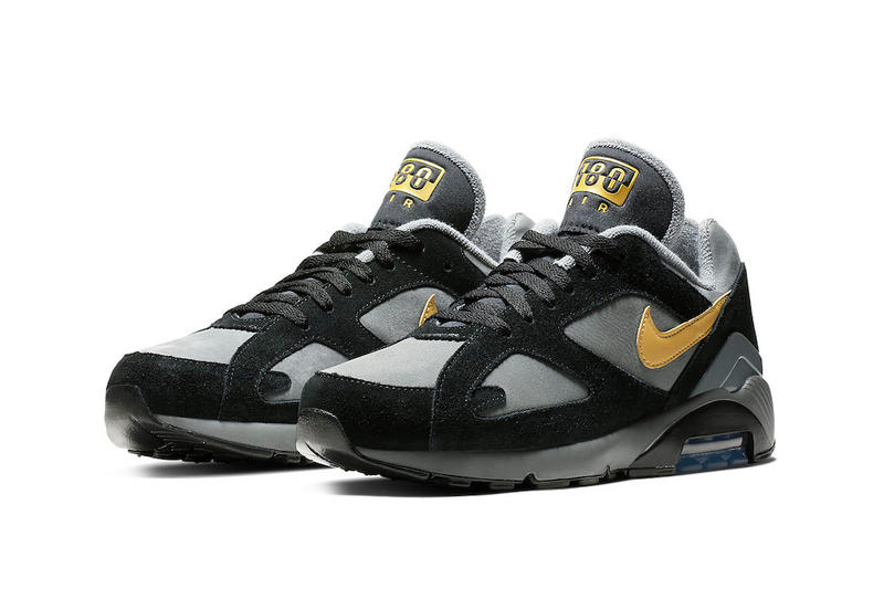 Nike Air Max 180 Grey Black Wheat Gold fall 2018 release sneakers leather  suede 583e63737