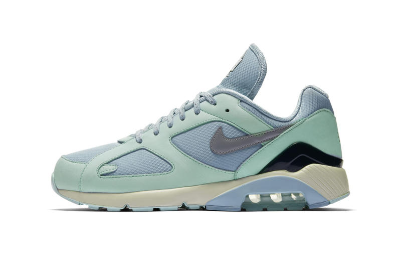 """Nike Air Max 180 """"Ocean Bliss/Metallic Silver"""" release date colorway sneaker ice purchase info trainer purchase buy online price official images"""
