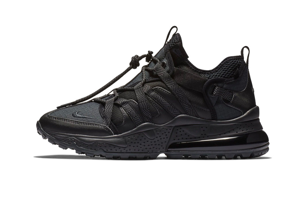 "64d9aad26126e0 Nike Covers the Air Max 270 Bowfin in a Slick ""Triple Black"" Color Scheme"