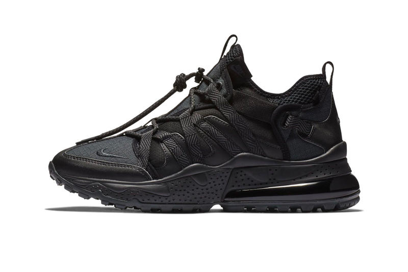 Nike Air Max 270 Bowfin Triple Black fall 2018 release sneakers