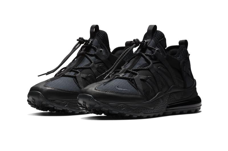 Nike Air Max 270 Bowfin Triple Black fall 2018 release sneakers 0e4051bc7b