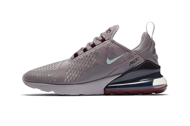 detailed look c14f2 c4656 Nike Air Max 270 Burgundy Crush Release Date availability grey silver blue  sneakers trainers drop cop
