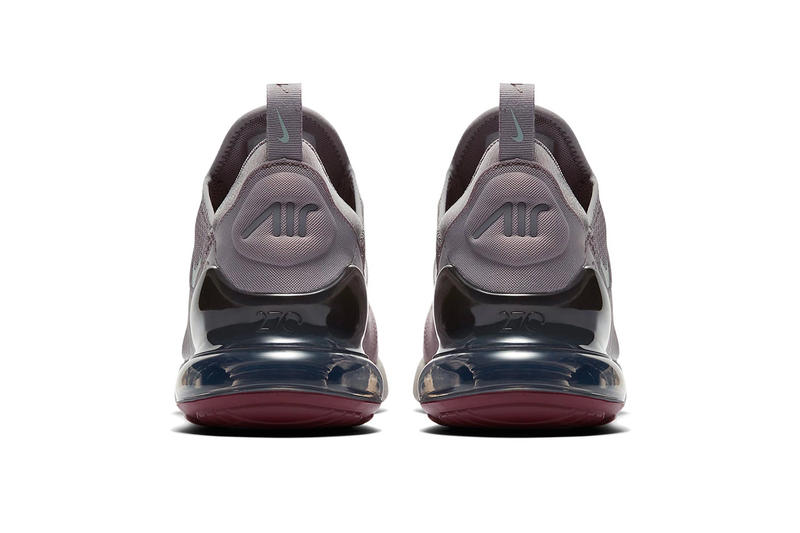 Nike Air Max 270 Burgundy Crush Release Date availability grey silver blue sneakers trainers drop cop how to buy
