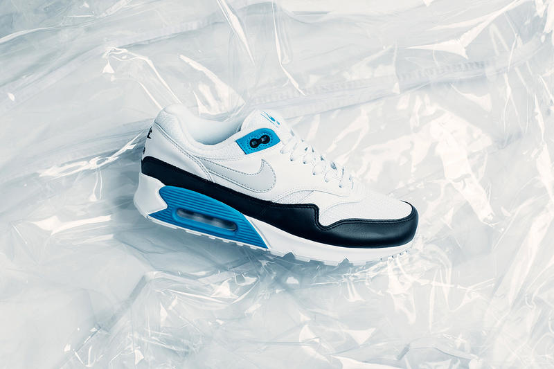 eae06eb2c2 A new look for the signature Air Max mashup. Nike Air Max 90/1 Laser Blue  release info sneakers Natural Grey black white air. 1 of 4. Feature Sneaker