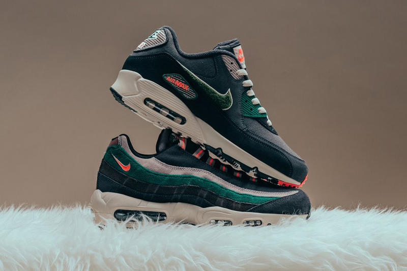 reputable site 33a7d fdda6 nike air max 95 nike air max 90 premium oil grey rainforest 2018 september  footwear nike