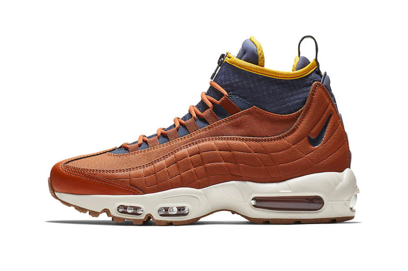 hot sale online 67908 9a806 Nike Air Max 95 Sneakerboot Dark Russet Thunder Blue light bone yellow  release info