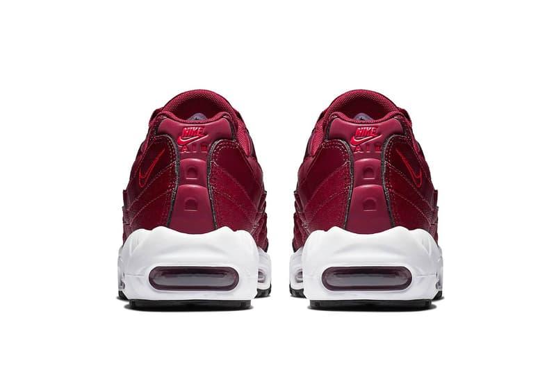 Nike Air Max 95 Team Red Release info drop date price purchase fall maroon Crimson sneaker footwear