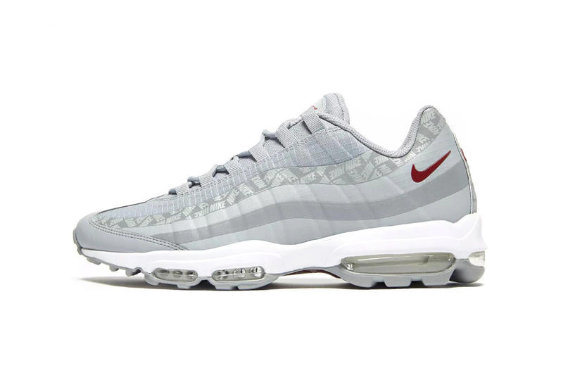 4458ad2665449 Nike Air Max 95 Ultra SE Silver Bullet Release White Grey Red Rip stop