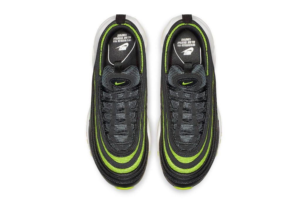 nike air max 97 black and neon green
