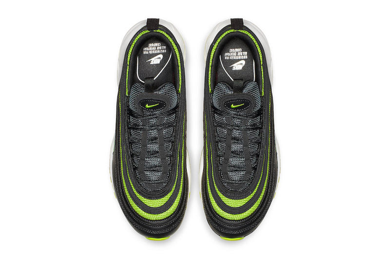 Nike Air Max 97 Black Neon Green fall 2018 release sneakers