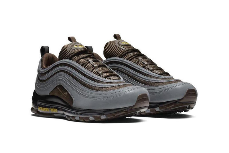 new concept c8c56 713eb Nike Air Max 97 Premium Baroque Brown Grey Info Release Date Yellow