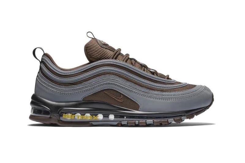 f8c751ac30 Nike Air Max 97 Premium Baroque Brown Grey Info Release Date Yellow