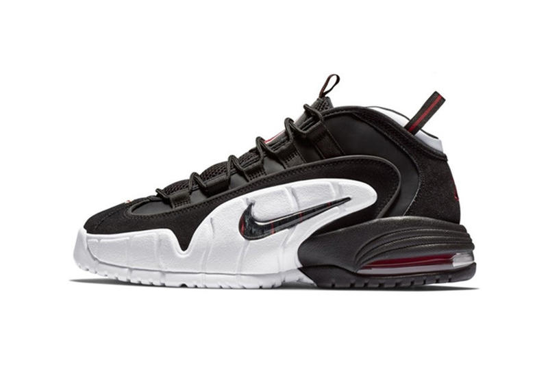 nike air max penny black white first look red sneaker shoes 2018 1996 olympics