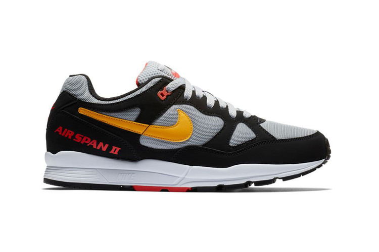 "0c5b9d5ab878 Nike s Air Span II Gets Reworked in a ""Black Yellow Wolf Grey"" · Footwear"
