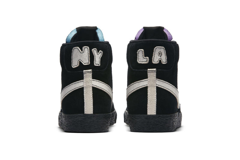 Nike Blazer Mid LA Lakers vs. NY Knicks los angeles new york nba colorway mismatched sneaker release date info price purchase