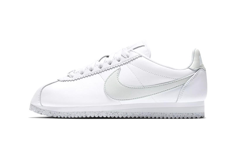 c3a0b02465a61 Nike Cortez Flyleather Sustainable Sustainability synthetic hybrid material white  light silver womens