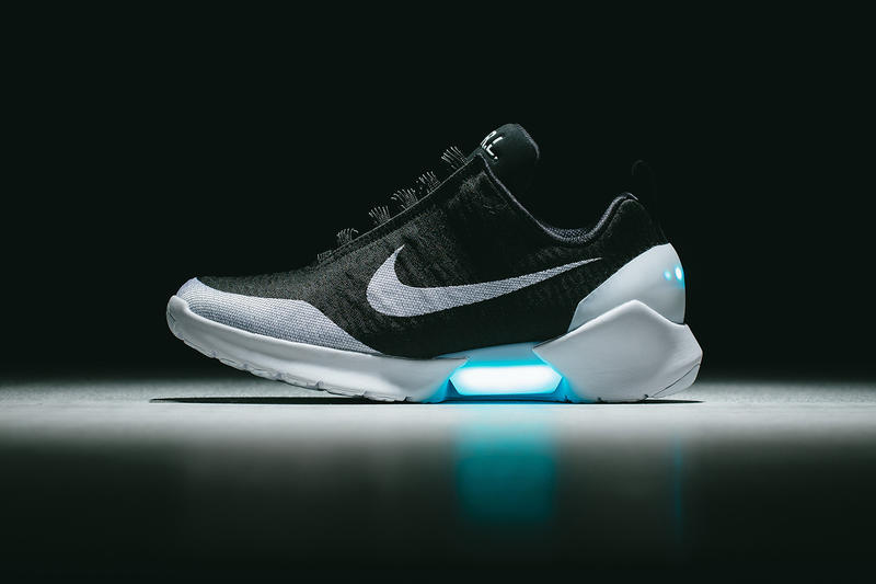 90ca82a7bf55b nike hyperadapt 1 2 2018 2019 black white blue light invincible release