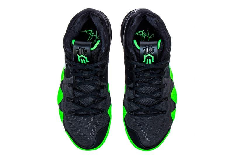Nike Kyrie 4 Halloween black green rage release info sneaker kyrie irving basketball