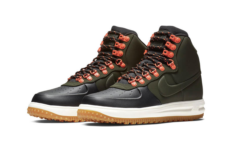 ecdbefff82f225 Nike Lunar Force 1 Duckboot 18 Triple Black   Sequoia