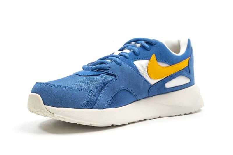 Nike Pantheos Blue Yellow Colorway Details Shoes Sneakers Trainers Kicks Footwear Cop Purchase Buy Foot District pantheon retro runner 1990 silhouette return