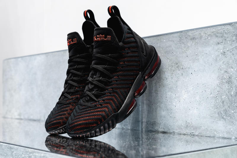 nike lebron 16 nike basketball lebron james footwear black red 2018 los  angeles lakers nba