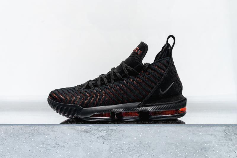 4b84d7116c703 nike lebron 16 nike basketball lebron james footwear black red 2018 los  angeles lakers nba
