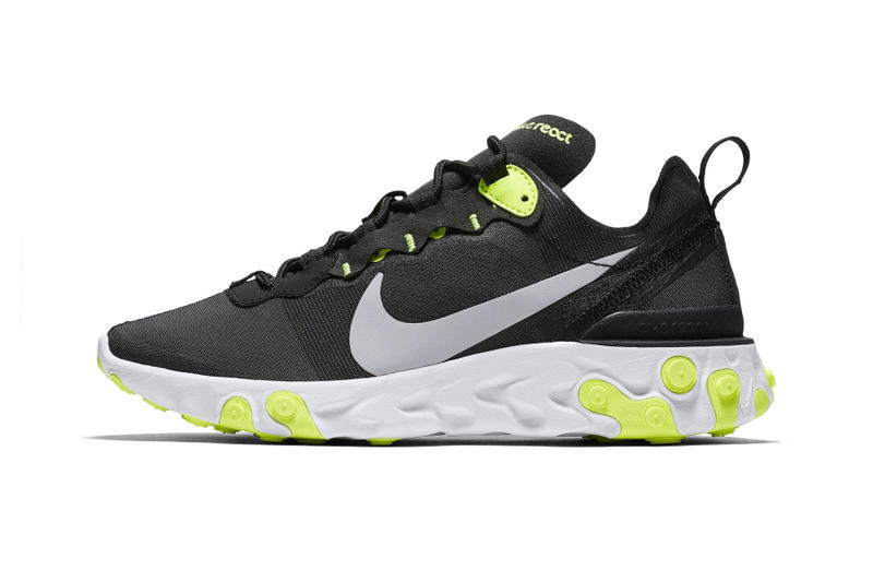 Nike React Element 55 Black Volt Release Date White Silver Grey Info