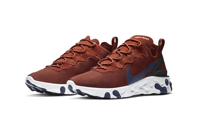 Nike React Element 55 Crimson/Navy Blue Colorway release date sneaker info price purchase