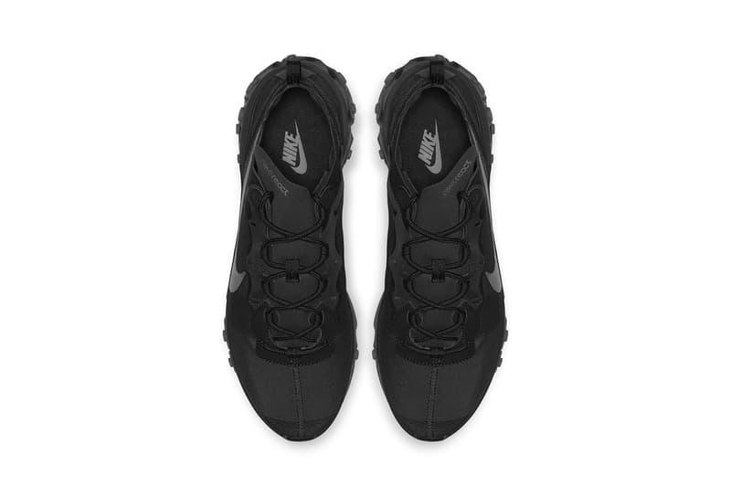 nike react element 55 triple black 2018 footwear nike sportswear