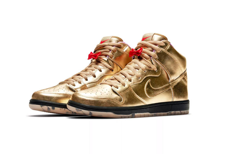 nike sb dunk high humidity release date 2018 september footwear gold black purple red