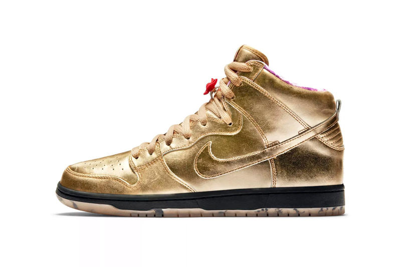 nike sb dunk high humidity release date 2018 september footwear gold black  purple red aab954de2