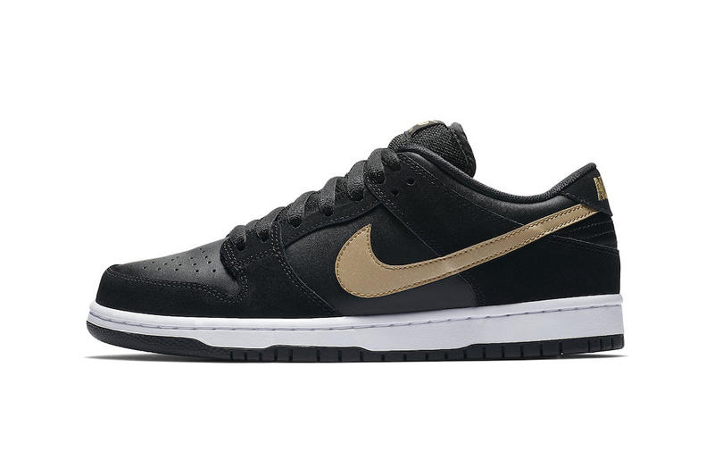 the latest 6cad3 872ed Nike SB Dunk Low Takashi Black Metallic Gold fall 2018 release sneakers  skateboarding Takashi Hosokawa