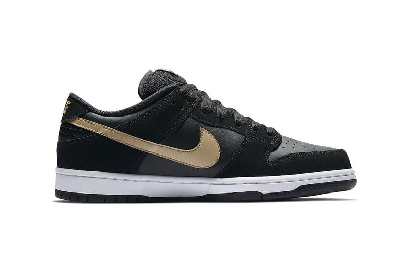 1c1c7d78ae88 Nike SB Dunk Low Takashi Black Metallic Gold fall 2018 release sneakers  skateboarding Takashi Hosokawa