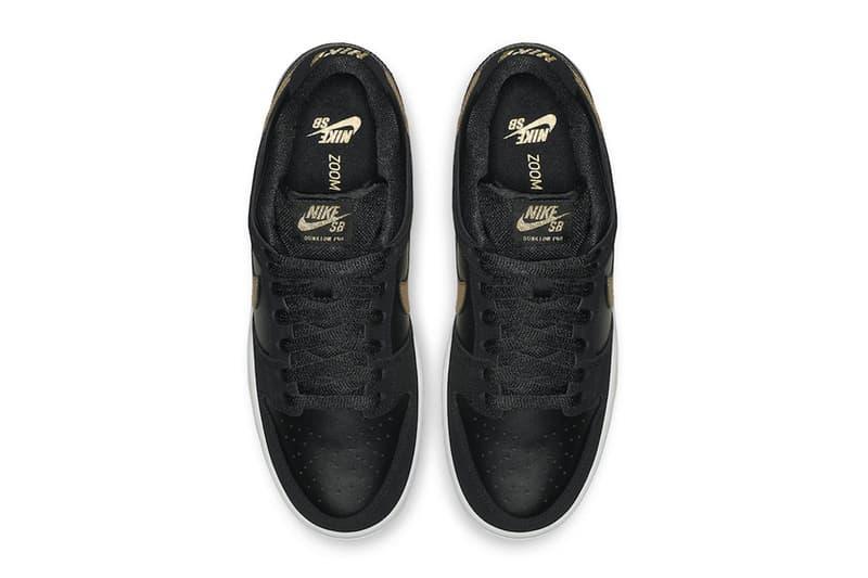 Nike SB Dunk Low Takashi Black Metallic Gold fall 2018 release sneakers  skateboarding Takashi Hosokawa fa8278a3e