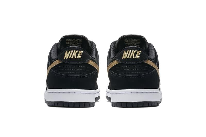 Nike SB Dunk Low Takashi Black Metallic Gold fall 2018 release sneakers skateboarding Takashi Hosokawa