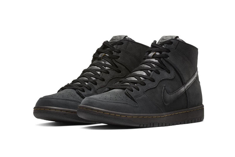 nike sb zoom dunk high pro deconstructed premium 2018 footwear black velvet brown peat moss