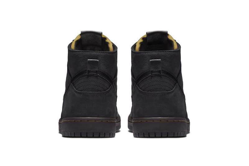 nike sb zoom dunk high pro deconstructed premium 2018 footwear black velvet brown peat moss