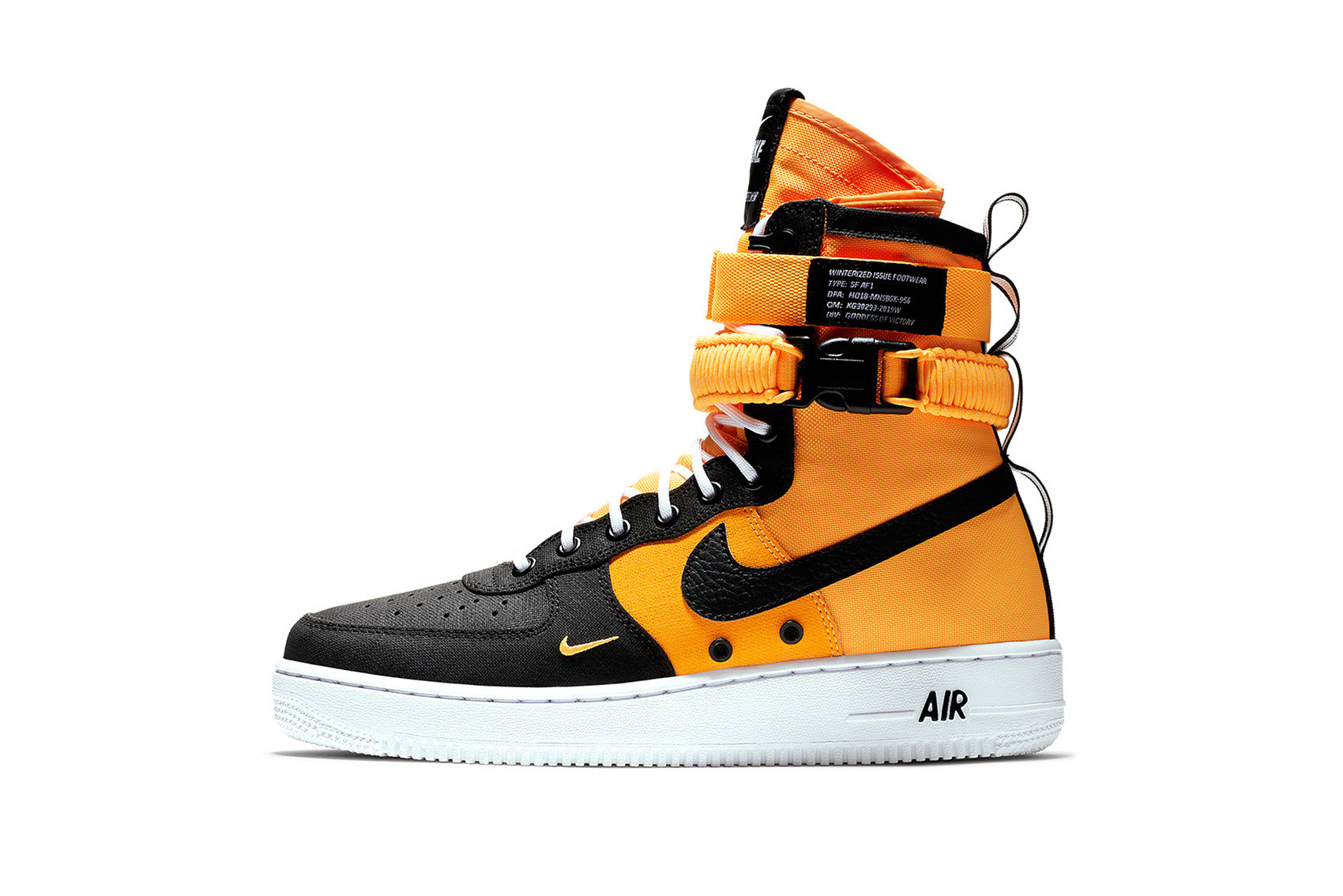 Nike SF AF1 Orange/Black-White For Fall