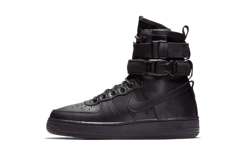nike sf af 1 triple black leather nike sportswear 2018